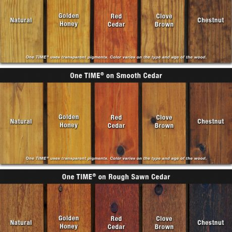One TIME Protector colors on wood